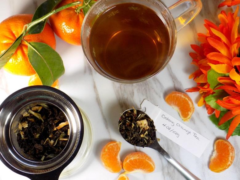 Bulk Barn Oolong Orange  Tea Review - Brewed Loose Tea with Oranges