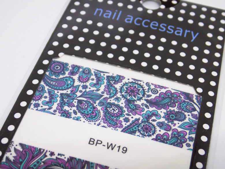 Born Pretty Store BP W19 Turquoise and Purple Water Decals for Nails Top Design