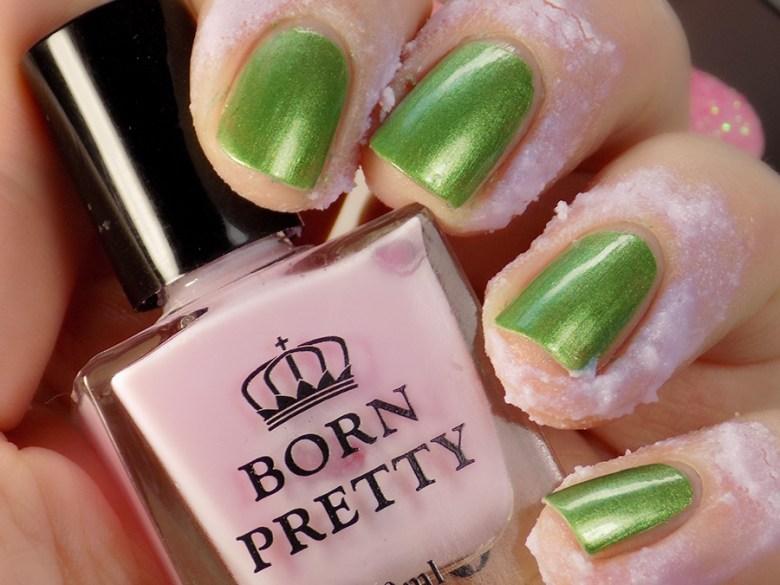Born Pretty Odor Free Latex Cuticle Guard in Pink-Purple - Applied