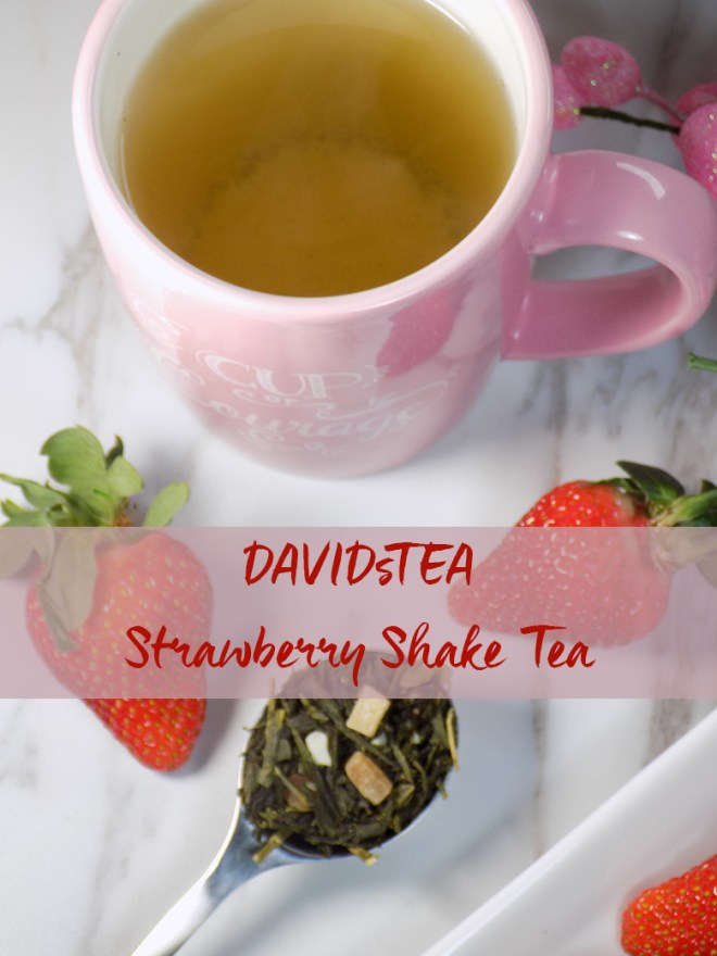 DavidsTea Strawberry Shake Green Tea Review PIN