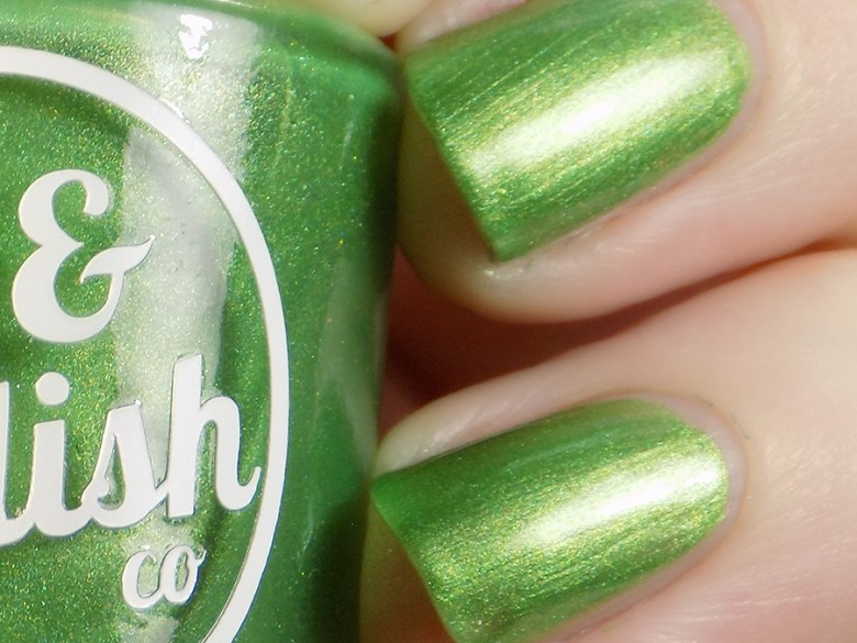 Joy and Polish Get In Lime - Shimmer Macro Swatch