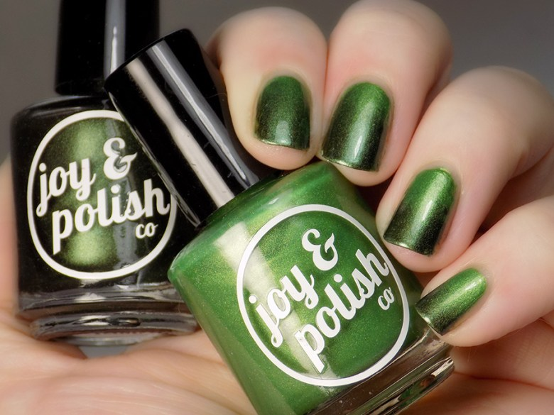 Joy and Polish Get In Lime vs Oh Kale Yeah Gradient Nail Swatch
