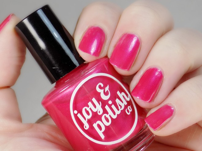 Joy and Polish Pink About It - Swatch