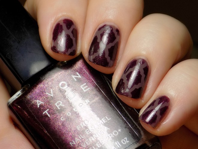 Kayla Ray Moroccan Vinyls with Avon True Color Pro+ Smoky Plum and Night Violet