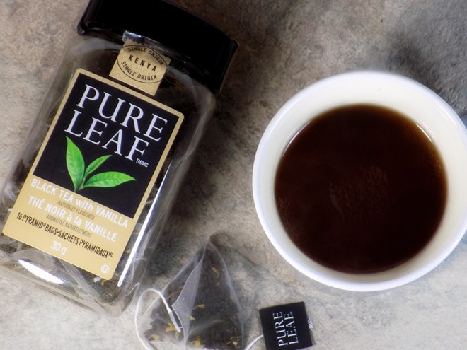 Pure Leaf Black Tea with Vanilla Tea Review - Brewed