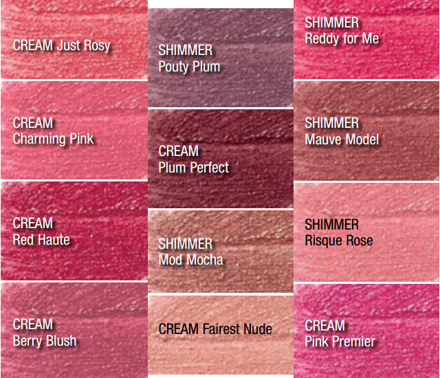 Avon True Color Lip Crayons All Shades