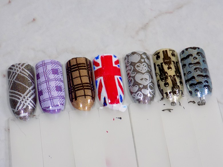 Born Pretty BP-L058 London Stamping Plate Mani - Bottom Row Swatches