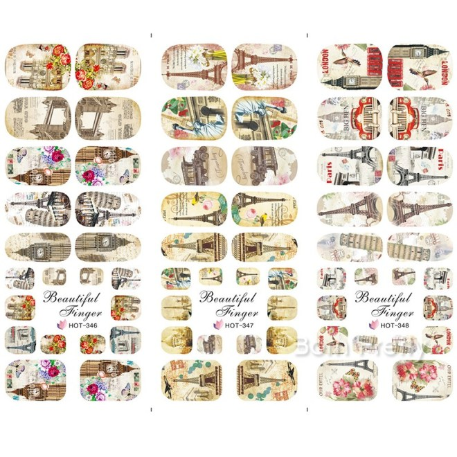Big Ben London Nail Decals Born Pretty BLE Nail Sticker - Non Transparent Images 37307