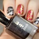 Movie Night Nails - Harunouta L043 Born Pretty - Swatches