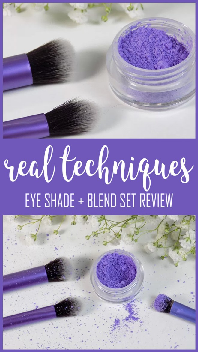 real techniques eye shade and blend review with comparison to other real technique brushes