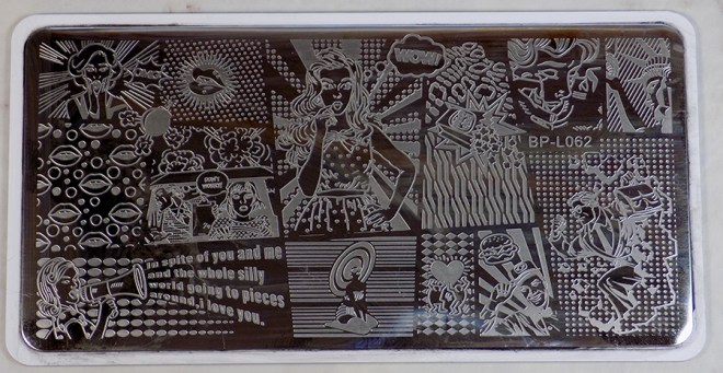 Born Pretty BP-L062 Swatches - Images on BPL062 Stamping Plate