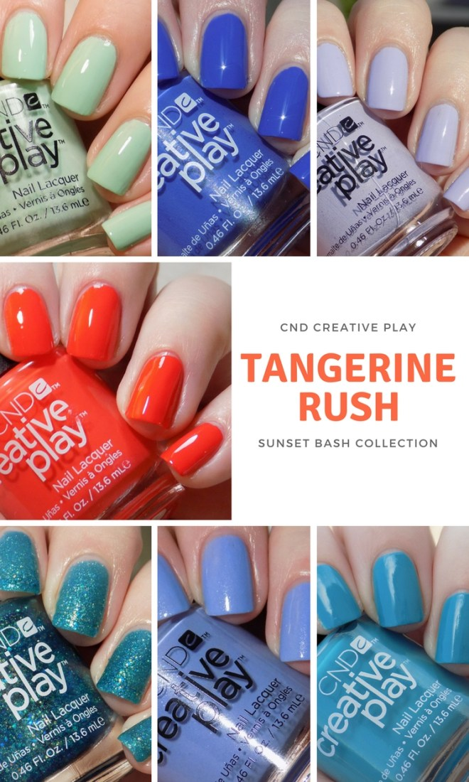 CND Creative Play Swatches - Tangerine Rush Swatches