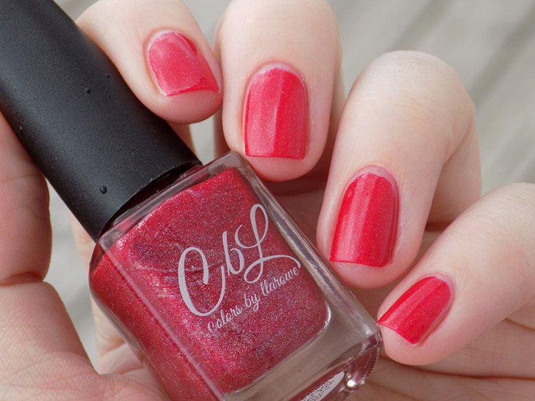 Colors by LLarowe Oh Canada - Red Holo Polish - Canada Day - IEC Special
