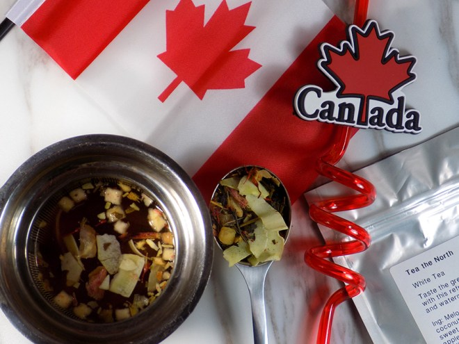 DAVIDSTEA Tea The North - Canada Day Special Tea - Limited Edition 2017 - Steeping