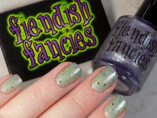 Fiendish Fancies 2nd Anniversary Polish - I Want My Cake Swatches and Review - Warm Thermal Shift