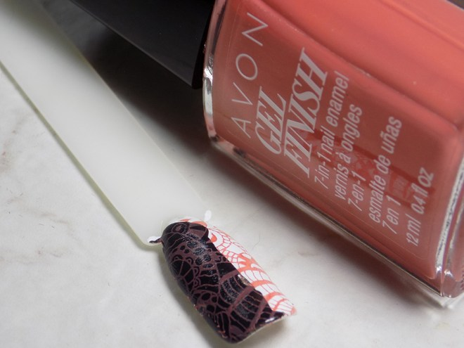 Avon Gel Finish Terracotta Nail Polish - Does It Stamp