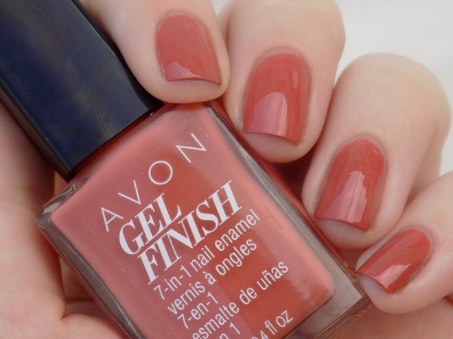 Avon Gel Finish Terracotta Nail Polish Swatch in Shade