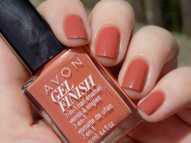Avon Gel Finish Terracotta Nail Polish Swatch in Sunlight