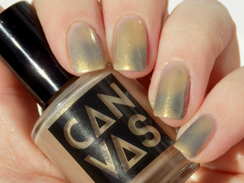 CANVAS Throwing Shade - Gold to Blue Taupe Transition Thermal