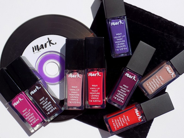 Mark by Avon Lip Pout Vinyl and Velvet Swatches and Review