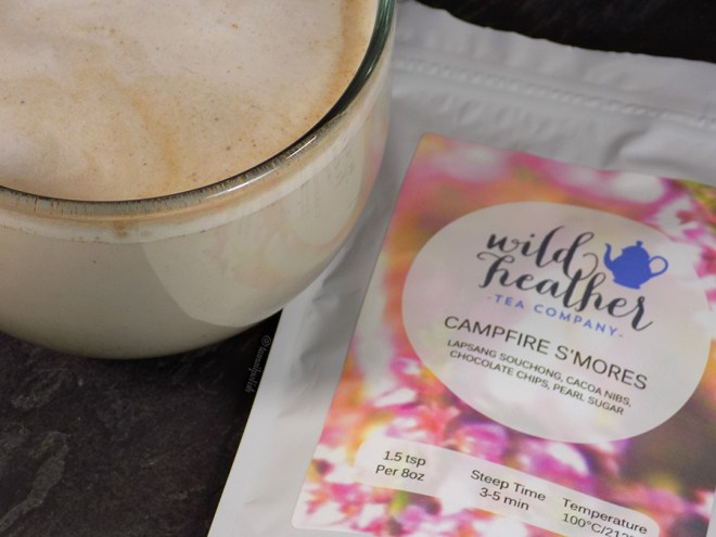 Wild Heather Campfire Smores Tea - Latte with bag