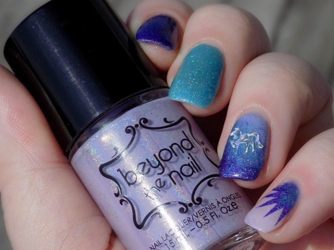 Beyond The Nail Unicorn Nails - Flowing Unicorn Mane - Oh Snap - Space Cadet