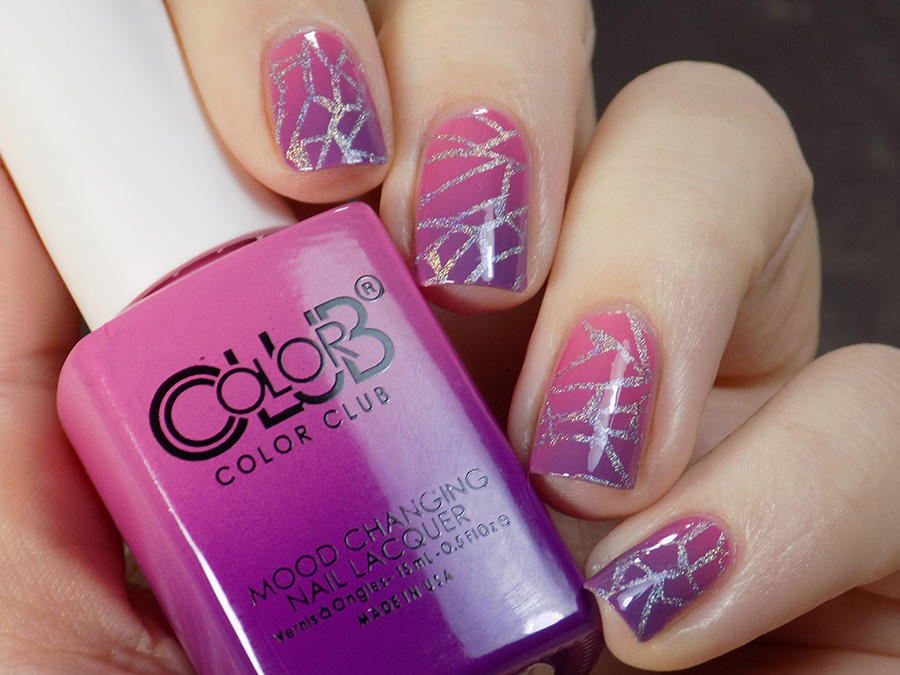 Color Club Feelin\' Myself Mood Polish Swatches & Review