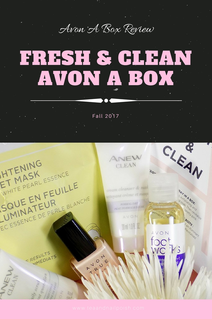 The Fresh & Clean A Box from Avon for Fall 2017 Beauty Subscription Box Canada