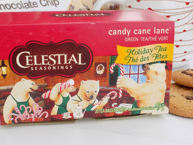 Celestial Seasonings Candy Cane Lane Holiday Tea Review - Packaging