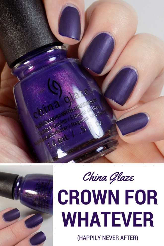 China Glaze Crown for Whatever Halloween Happily Never After Swatches