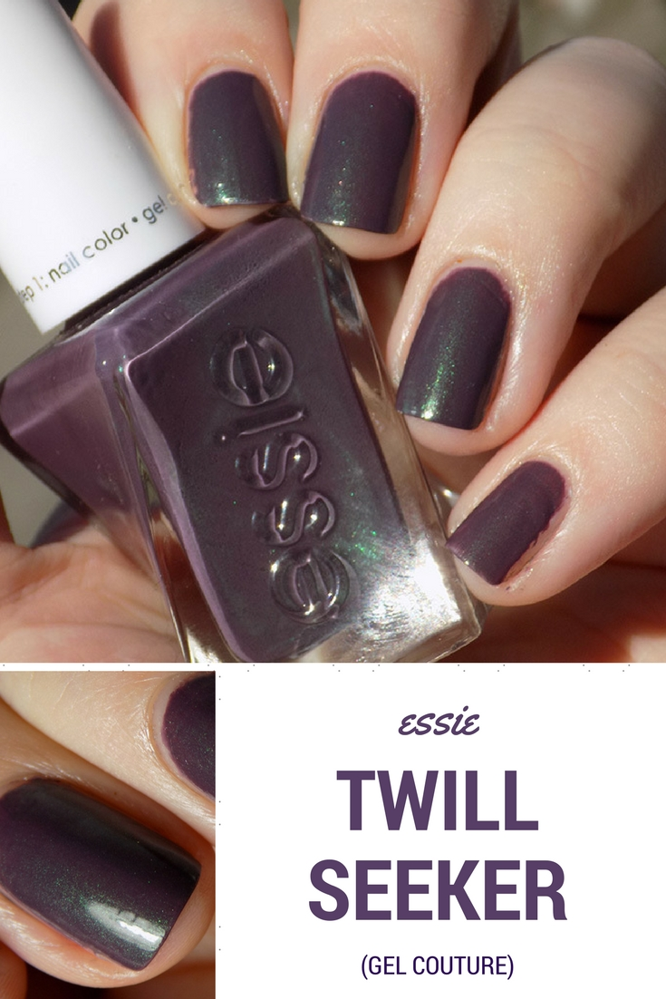 Essie Gel Couture Twill Seeker Swatches and Review - Tea & Nail Polish
