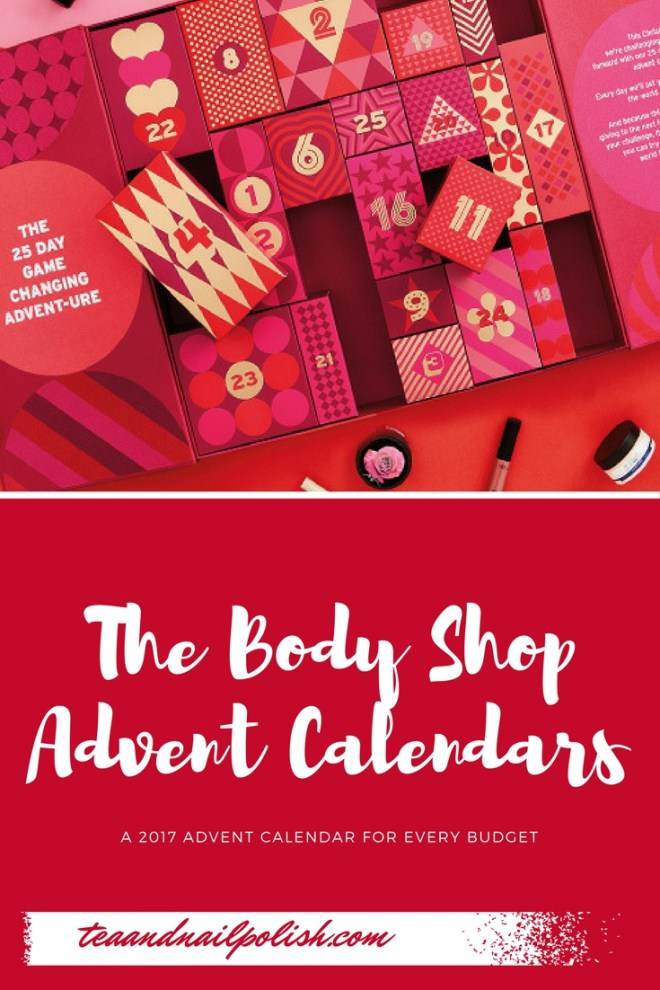 The Body Shop Advent Calendars for 2017 - Basic and Advent-ures Calendars 2017