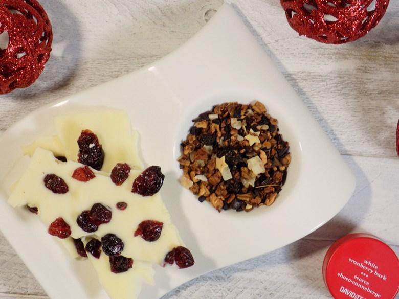 DAVIDsTEA White Cranberry Bark Tea Review - Loose Tea with White Chocolate Cranberry Bark