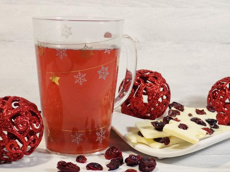 DAVIDsTEA White Cranberry Bark Tea Review & White Chocolate Cranberry Bark Recipe