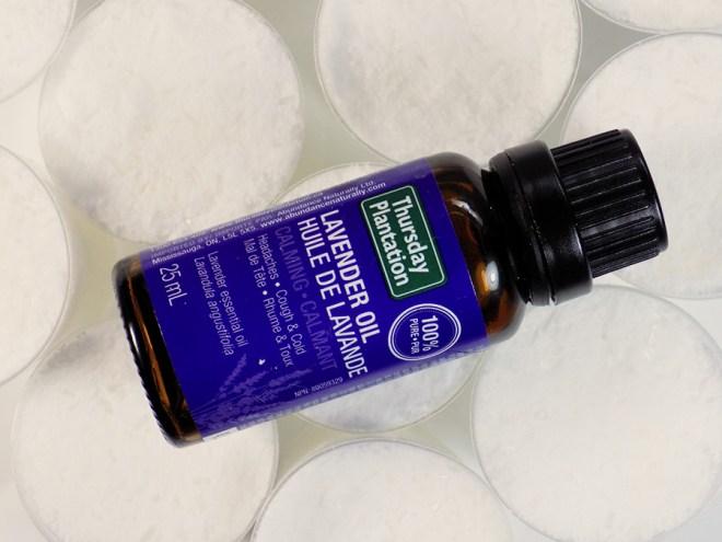 DIY Bath Bomb Pedicure Bombs - Filled Shot Glasses with Thursday Plantation Lavender Essential Oil