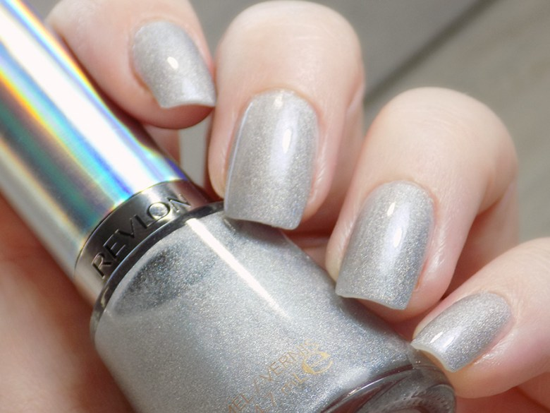 Revlon Hologasm Silver Holographic Polish Swatches Holochrome Collection 2017 - Swatch in Artificial Light