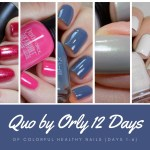 Quo by Orly 12 Days of Colorful Healthy Nails Days 1-6