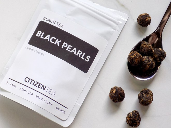 Citizen Tea Black Pearls Ingredients and Steeping Instructions