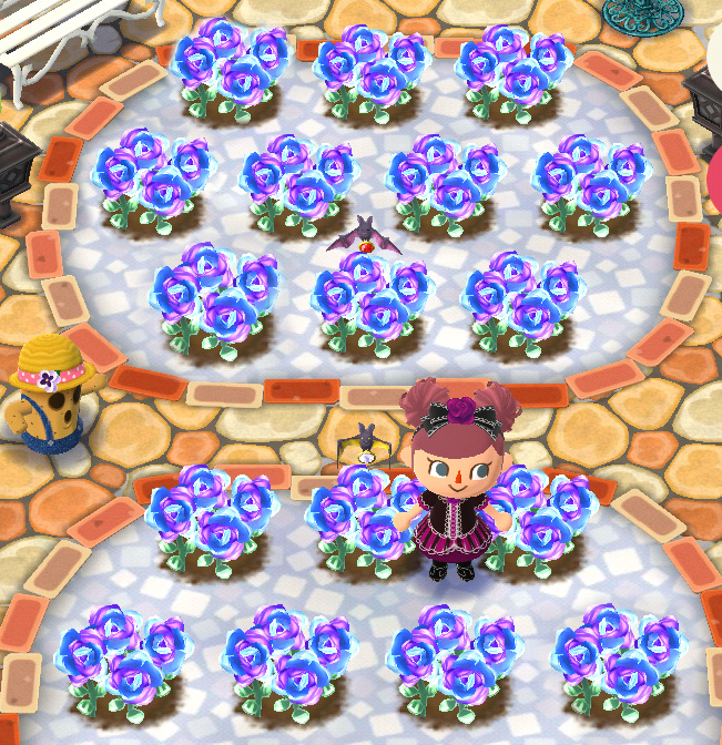 Animal Crossing Pocket Camp Lotties Gothic Rose Festival Nail Art - Fusion Roses Nail Art Looks