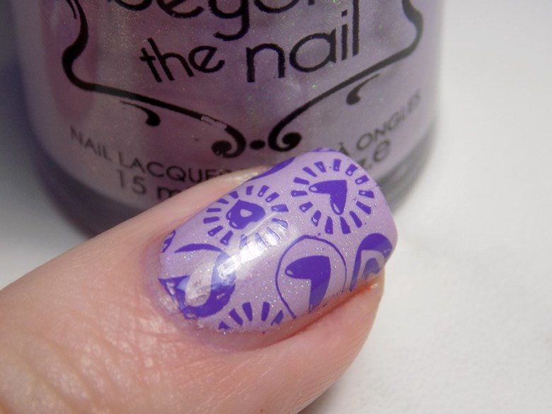 Beyond The Nail Flowing Unicorn Mane Valentines Day Nail Art Closeup Showing Holo Stamped