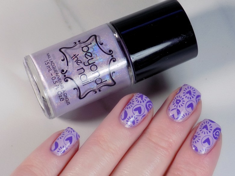 Beyond The Nail Flowing Unicorn Mane Valentines Day Nail Art Swatch