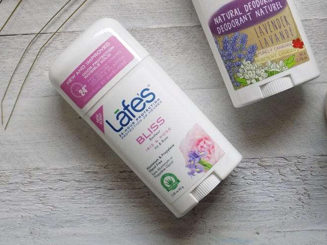 Natural Deodorants Review and Comparison Lafes Bliss Iris and Rose Natural Deodorant Review
