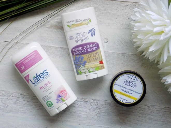 Natural Deodorants Review and Comparison Lafes vs Green Beaver vs Clean Kiss