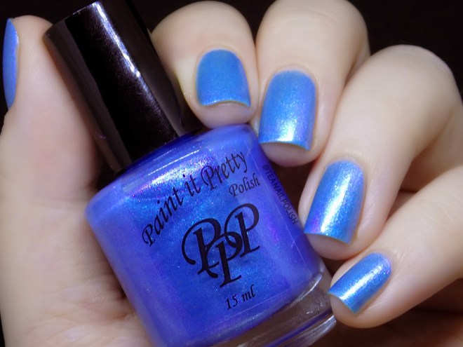 Paint It Pretty Polish Blue Me Away at IEC - IEC Exclusive Blue Aurora Swatches