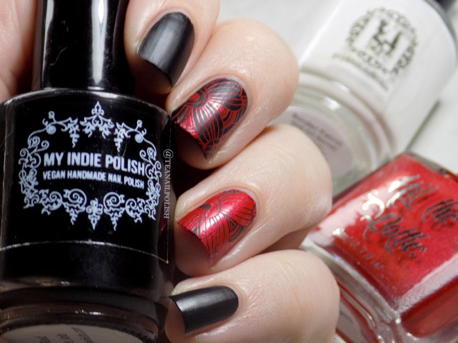 My Indie Polish Rat Rod Paint Job - Hit The Bottle Drop Red Gorgeous - Girly Bits Border Patrol