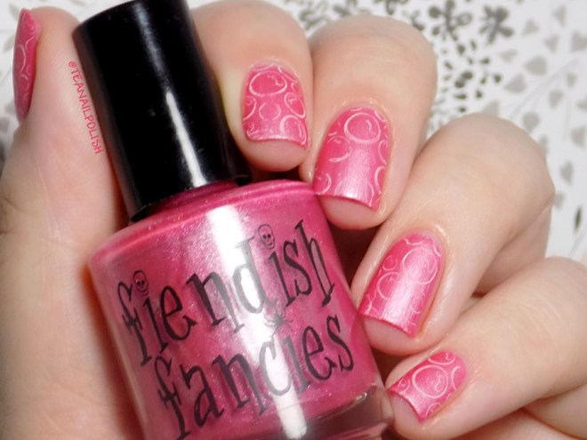 Fiendish Fancies You Are Beautiful Swatches - Matte with stamping
