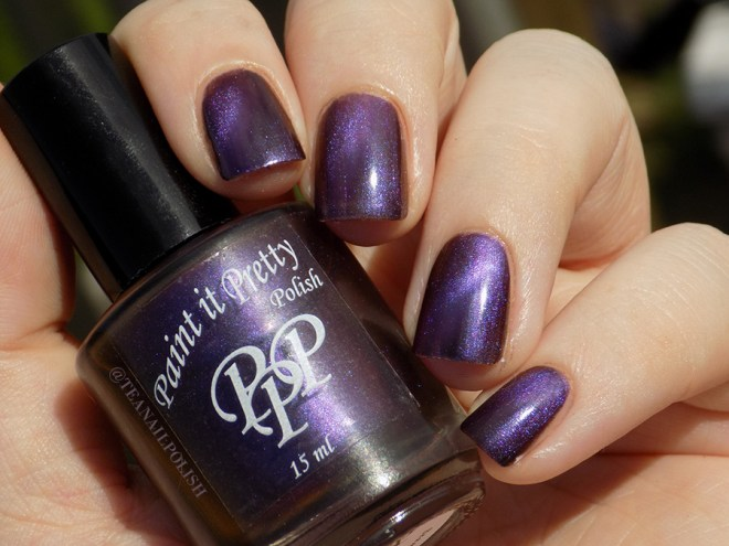Paint it Pretty Polish Magnetic Moment - sunlight swatches
