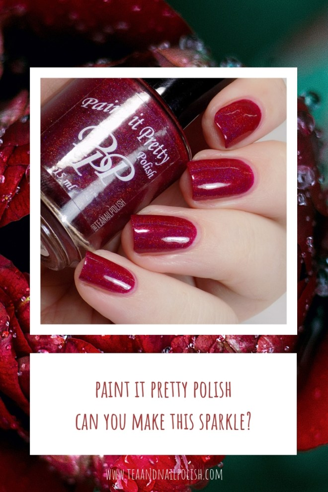 Can You Make This Sparkle Swatches Paint it Pretty Polish Holo Collection - Red Holographic Polish