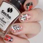 End of Summer Flower Nails using Seche Calla Lilly and Born Pretty BPY36 Nail Decals Swatches