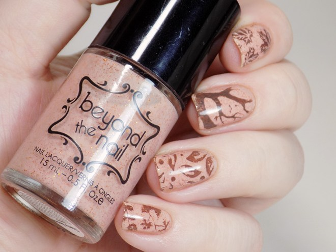 Fall Nails with Beyond the Nail Cherry Beach and MdU Chocolate